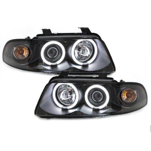 Audi-A4-B5-LimAvant-96-00-Faróis-Angel-Eyes-CCFL-Pretos-3