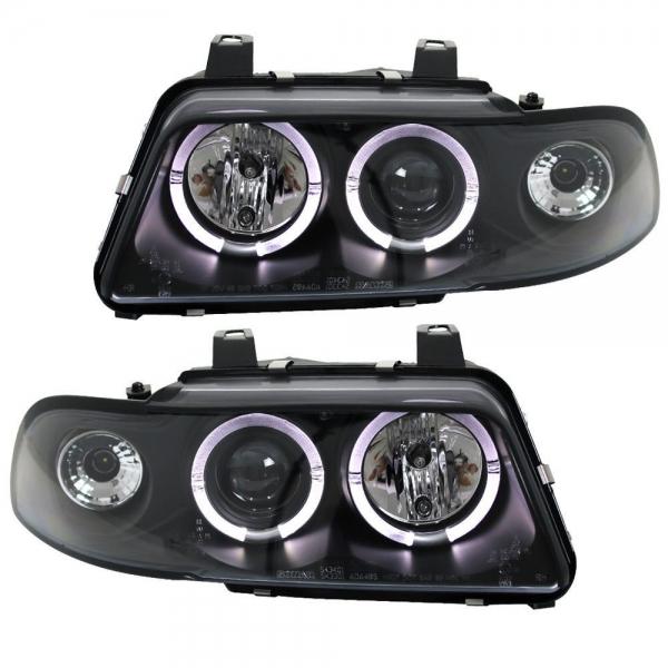 Audi-A4-B5-LimAvant-96-00-Faróis-Angel-Eyes-Pretos