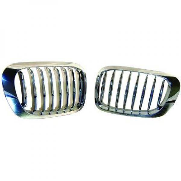 BMW-Serie-3-E46-Cabrio-99-03-Grelha-Central-Cromada