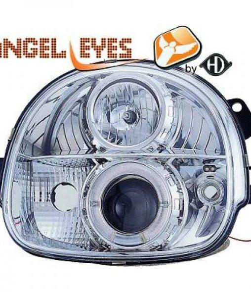Renault-Twingo-93-98-Faróis-Angel-Eyes-Cromados