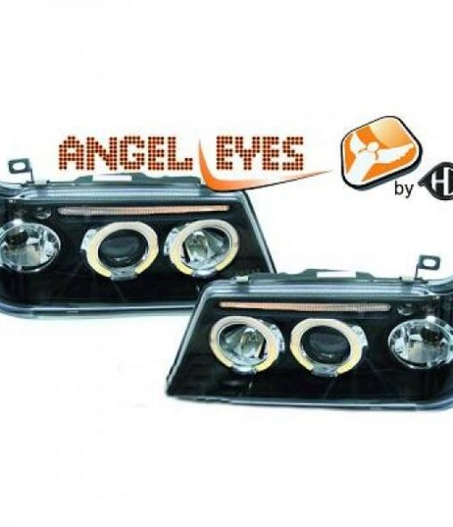 Peugeot-205-83-96-Faróis-Angel-Eyes-Pretos