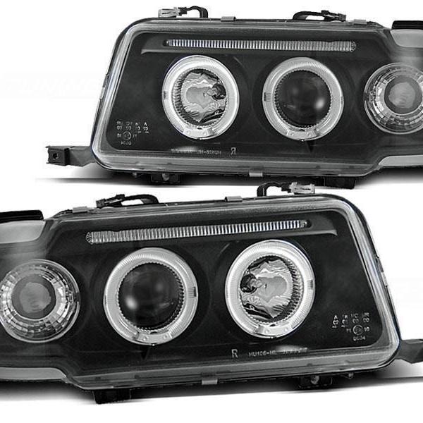 Audi-80-91-94-Faróis-Angel-Eyes-Fundo-Preto-2