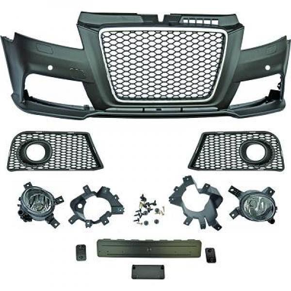 Audi-A3-8P3-08-12-Para-choques-RS3-Grelha-Favo-de-Mel-Cromada-2