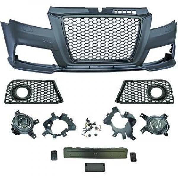 Audi-A3-8P3-08-12-Para-choques-RS3-Grelha-Favo-de-Mel-Preta