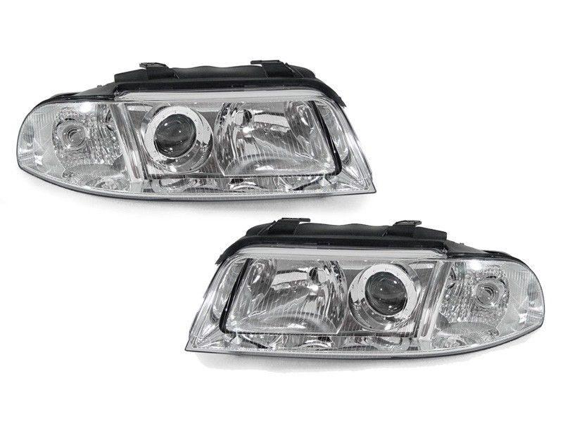 Audi-A4-B5-LimAvant-99-00-Faróis-Origem-Cromado