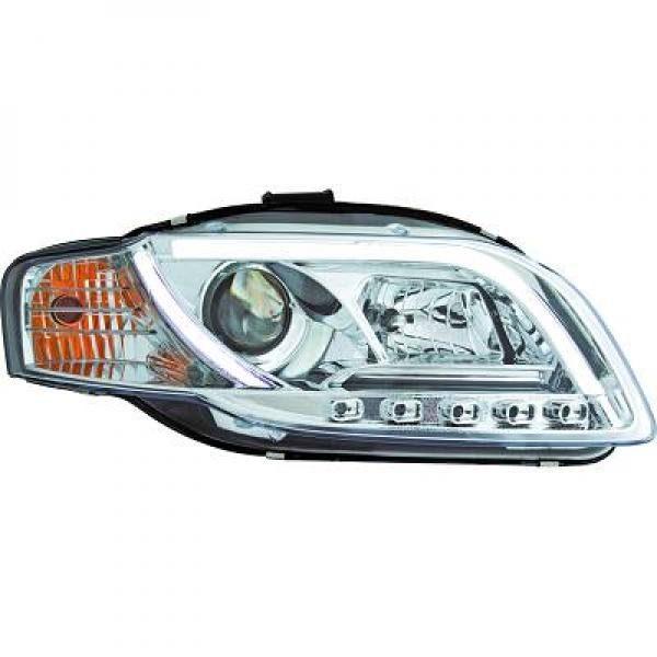 Audi-A4-B7-LimAvant-04-07-Faróis-Tubeline-Fundo-Cromado