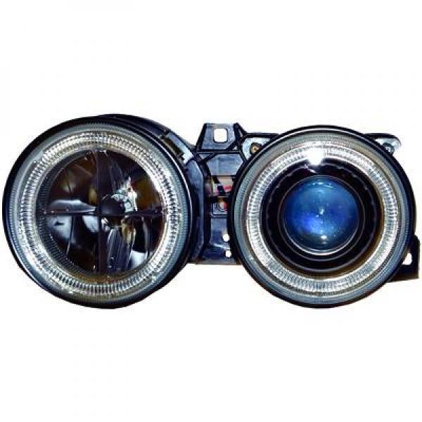 BMW-Serie-3-E30-82-87-Faróis-Angel-Eyes-Fundo-Preto