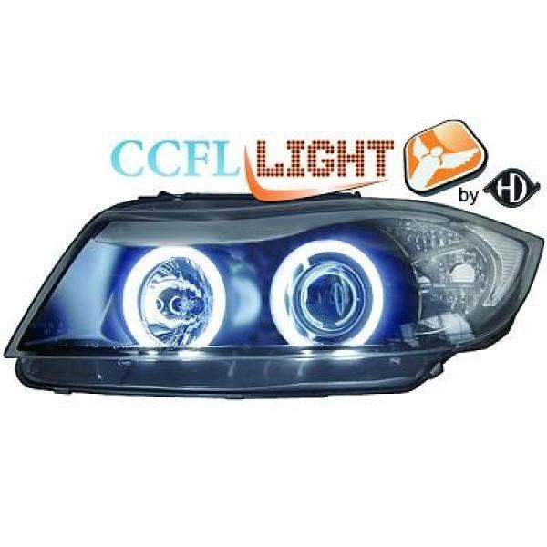 BMW-Serie-3-E90-05-11-Faróis-Angel-Eyes-CCFL-Pretos