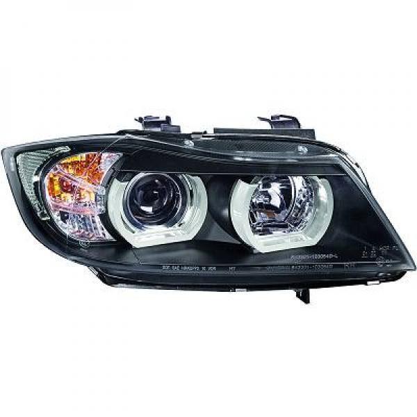 BMW-Serie-3-E90-05-11-Faróis-Angel-Eyes-TFL-Pretos