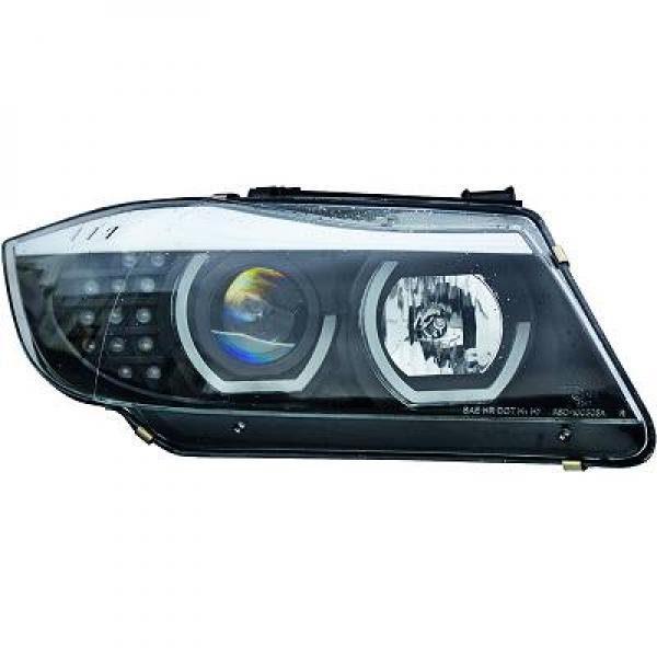 BMW-Serie-3-E91-05-11-Faróis-Angel-Eyes-3D-CCFL-Pretos