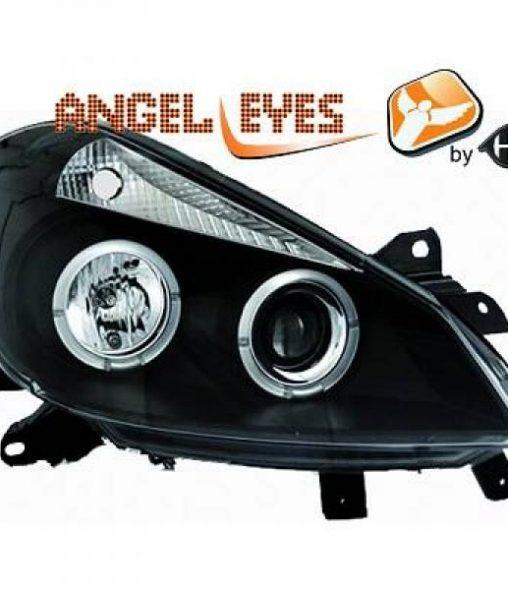 Renault-Clio-05-09-Faróis-Angel-Eyes-Pretos