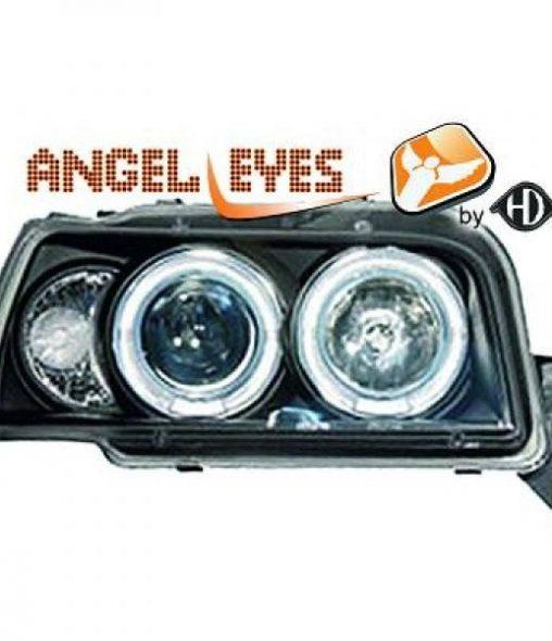 Renault-Clio-91-98-Faróis-Angel-Eyes-Preto