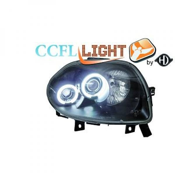 Renault-Clio-II-98-01-Faróis-Angel-Eyes-CCFL-Pretos