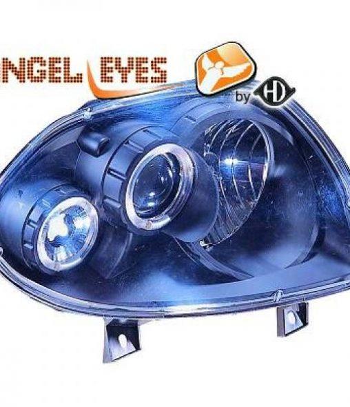 Renault-Clio-II-98-01-Faróis-Angel-Eyes-Pretos