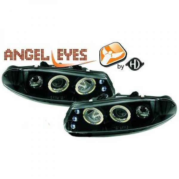 Rover-200-Serie-95-00-Faróis-Angel-Eyes-Preto