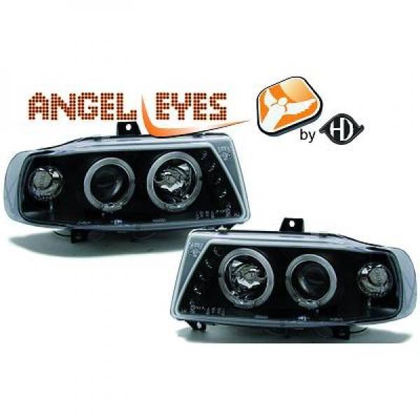 Seat-Ibiza-6K-93-99-Faróis-Angel-Eyes-Fundo-Preto