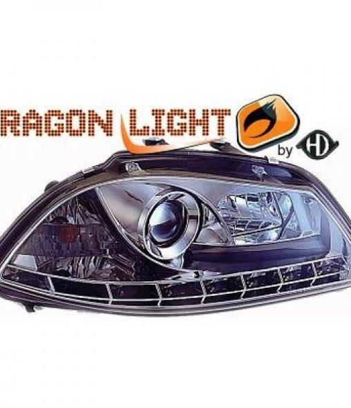 Seat-Ibiza-6L-02-08-Faróis-Dayline-Cromados