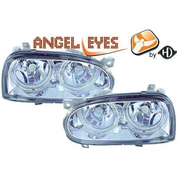 Volkswagen-Golf-III-91-97-Faróis-Angel-Eyes-Cromados-v.2