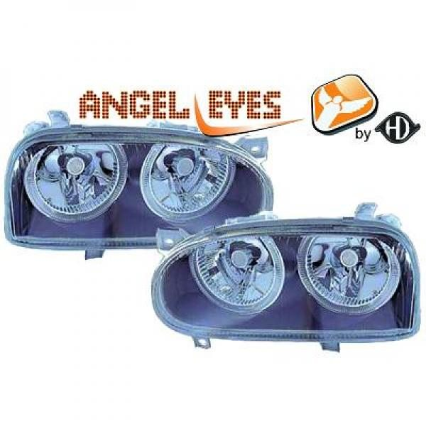 Volkswagen-Golf-III-91-97-Faróis-Angel-Eyes-Preto-v.2