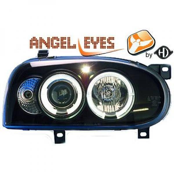 Volkswagen-Golf-III-91-97-Faróis-Angel-Eyes-Preto