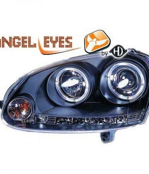Volkswagen-Golf-V-Variant-07-09-Faróis-Angel-Eyes-Preto