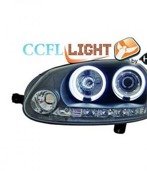 Volkswagen-Golf-V-Variant-07-09-Faróis-Angel-Eyes-Preto-CCFL