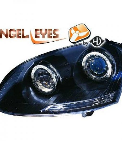 Volkswagen-Golf-V-Variant-07-09-Faróis-Angel-Eyes-Preto-v.2