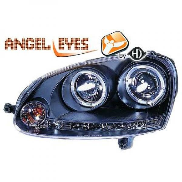 Volkswagen-Golf-V-Variant-07-09-Faróis-Angel-Eyes-Preto